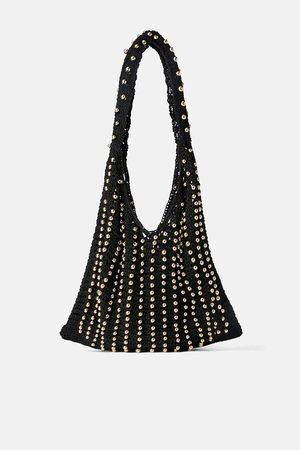 Zara Borsa a secchiello in crochet con perline