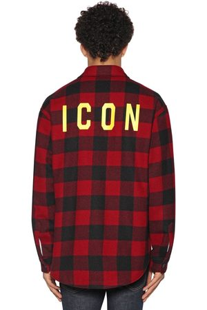 "Dsquared2 Camicia ""icon"" In Flanella Di Lana Check"