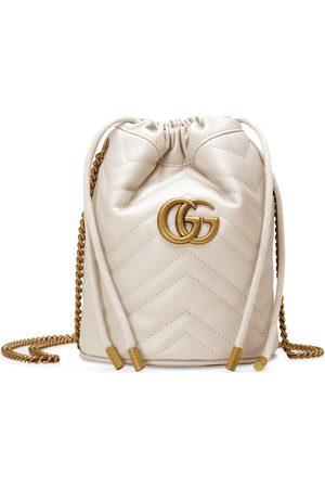 Gucci Donna A tracolla - Mini borsa a secchiello GG Marmont