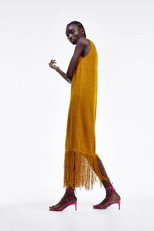 Zara Vestito rustico frange