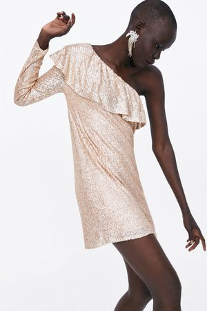 Zara Vestito paillettes volant