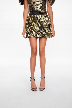 Zara Minigonna con filo metallizzato