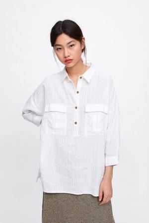 Zara Camicia oversize con tasche