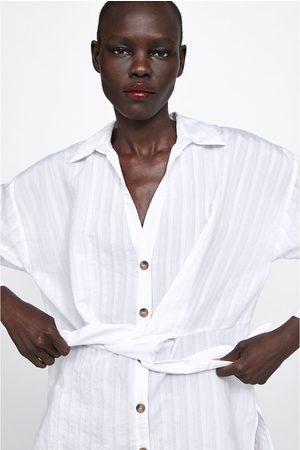 Zara Tunica a righe con nodo