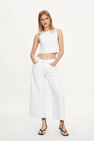 Zara Jeans culotte mid-rise