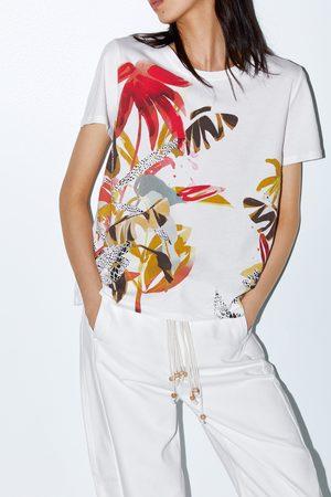 Zara Donna T-shirt - Maglietta con anteriore