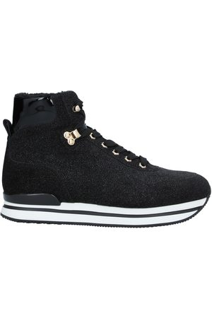 2hogan donna sneakers nere in pelle
