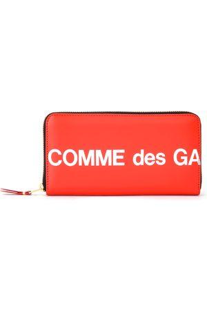 Comme des Garçons Portafogli e portamonete - Portafoglio Huge Logo zip around in pelle rossa