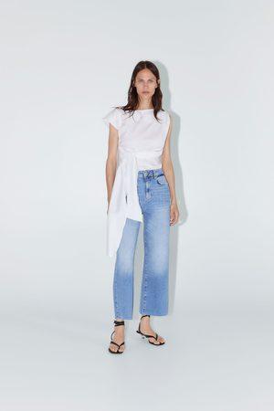 Zara Donna Jeans a vita alta - Jeans zw premium high waist culotte sunrise blue