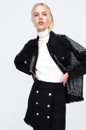 Zara Minigonna con bottoni gioiello