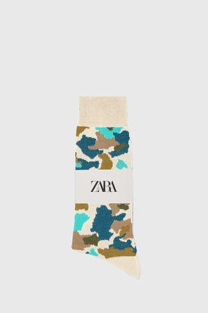 Zara Calzini cotone mercerizzato jacquard stampa mimetica