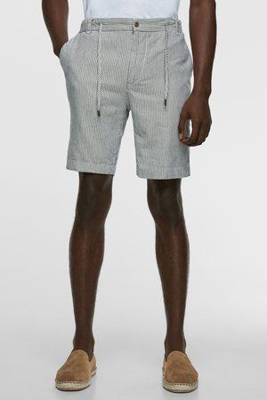 Zara Uomo Pantaloncini - Bermuda rustici a righe