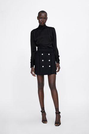 Zara Donna Minigonne - Minigonna con bottoni gioiello