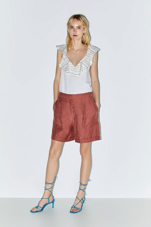 Zara T-shirt volant combinato