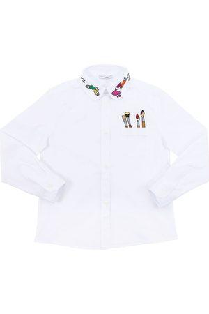 Dolce & Gabbana Camicia In Popeline Di Cotone Stretch