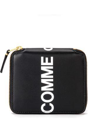 Comme des Garçons Portafogli e portamonete - Portafoglio Huge Logo in pelle nera