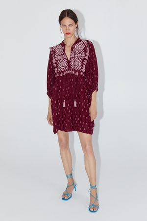 Zara Embroidered dress with tassels