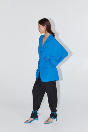 Zara Blusa con arricciature e tasche