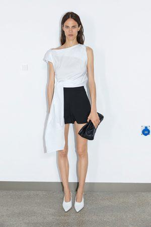 Zara Donna Pantaloncini - Shorts vita alta