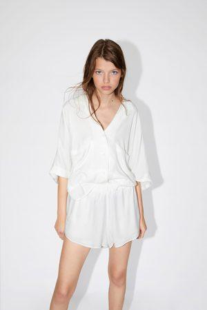 Zara Donna Camicie - Camicia morbida con tasche