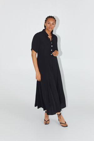 Zara Vestito lungo chemisier