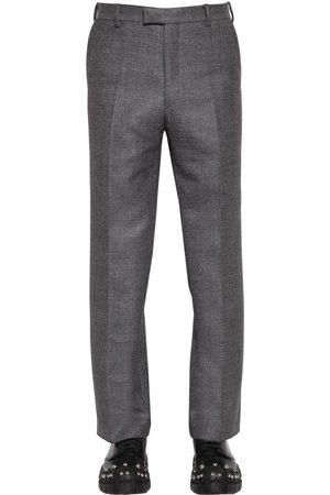Prada Pantaloni Vita Alta In Lana 24cm