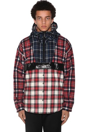 Dsquared2 Anorak In Cotone Check Patchwork