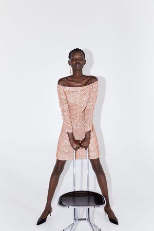 Zara Vestito drappeggiato paillettes