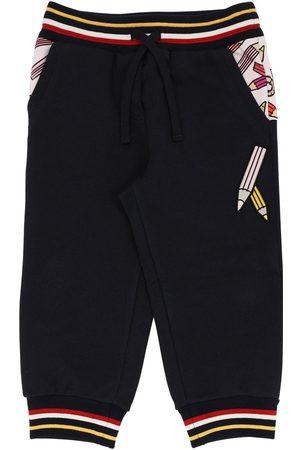 Dolce & Gabbana Pantaloni In Felpa Di Cotone Stampata