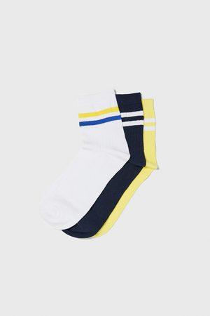 Zara Uomo Calze - Confezione di calzini a costine righe
