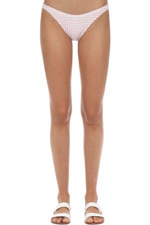 """Solid Slip Bikini """"eloise"""" Gingham"""
