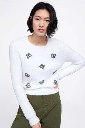 Zara Pullover in maglia applicazioni