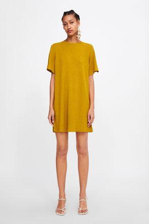 Zara Vestito in maglia a costine
