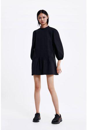 Zara Vestito corto popeline