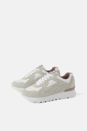 Sneaker in pelle design abbinato