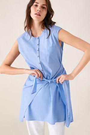 Zara Vestito chemisier con nodo