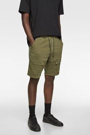 Zara Uomo Pantaloncini - Bermuda shorts denim