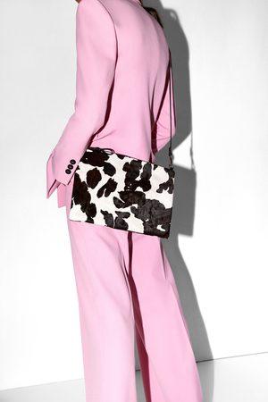 Zara Clutch in pelle con stampa animalier