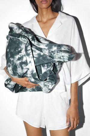 Zara Borsa a secchiello in tessuto tie dye
