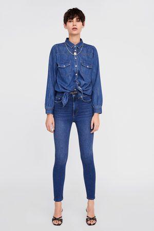 Zara Donna Jeans a vita alta - Jeans zw premium high waist skinny air blue