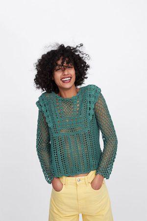 comprare on line 80cb6 39eb3 Pullover in crochet traforato