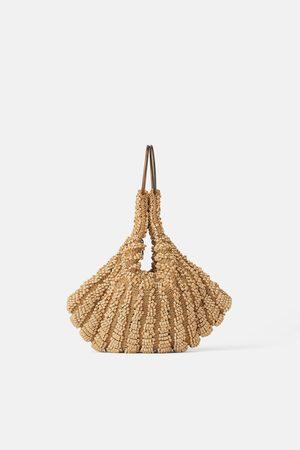 Zara Donna Borse a mano - Mini borsa a mano a secchiello con perline