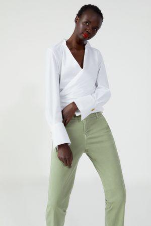 Zara Donna Chinos - Jeans zw premium floppy chino forest green