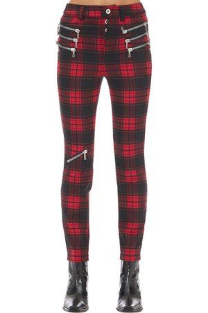 UNRAVEL Pantaloni Skinny Check Con Zip