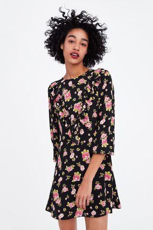 Zara Vestito stampa floreale volant