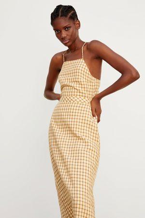 Zara Donna Vestiti - Vestito rustico a quadri