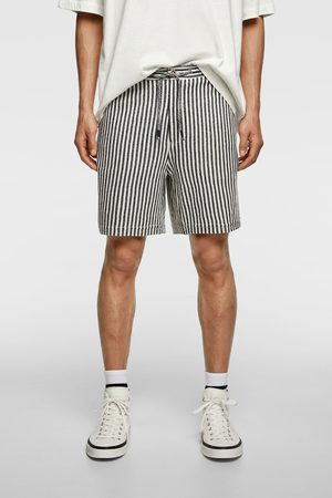 Zara Uomo Pantaloncini - Bermuda shorts strutturati a righe