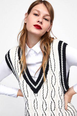 Zara Donna T-shirt - Gilet in maglia