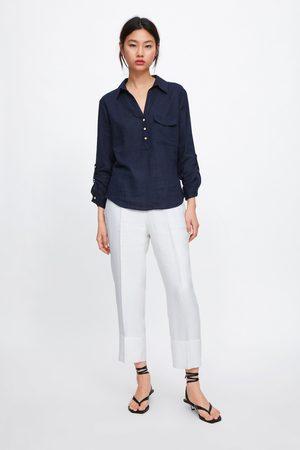 Zara Donna Camicie - Camicia con taschino