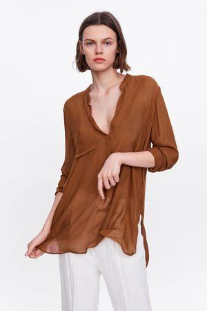Zara Donna Bluse - Camicetta con tasca